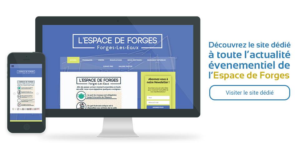 Découvrez le site dédié à toute l'actualité évenementiel de l'Espace de Forges